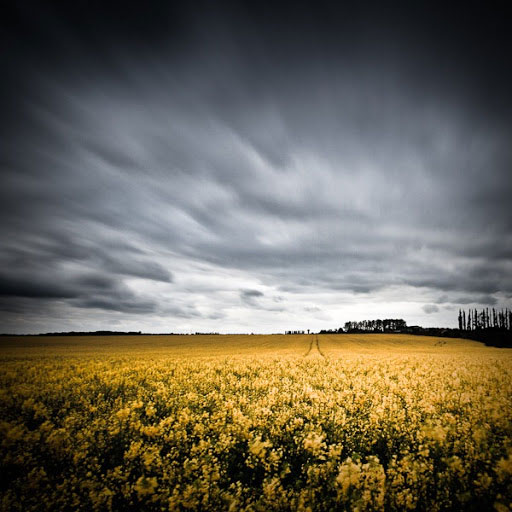 Exposition longue et filet de nuages
