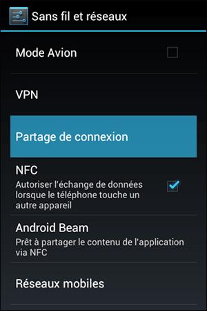 Partage de connexion 3G sous Android