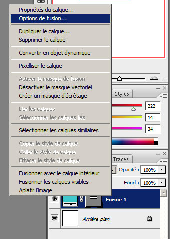 Les options de fusion sous Photoshop