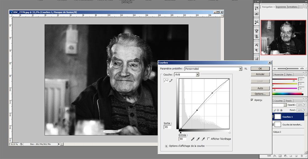 """L'outil """"courbes"""" de Photoshop"""
