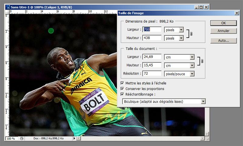Redimensionner une image sous Photoshop