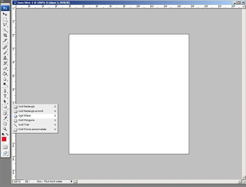 outil ellipse Photoshop
